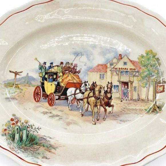 Vintage Serving Platter Boars Head Inn England